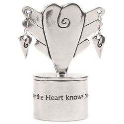 Only the Heart Fine Pewter Treasure Box and Earring Set