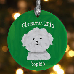 Personalized Dog Breed Christmas Ornament