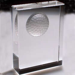 Crystal Golf Plaque