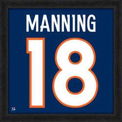 Peyton Manning Denver Broncos Jersey 20x20 Uniframe Print