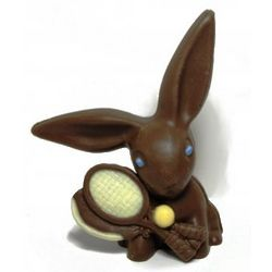 Chocolate Easter Tennis Bunny