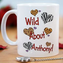 Personalized Wild About Coffee Mug