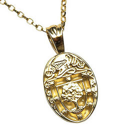 Personalized Coat of Arms Oval Pendant