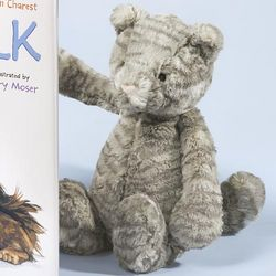 Bashful Tabby Kitten Stuffed Toy