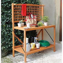 Folding Garden Potting Bench