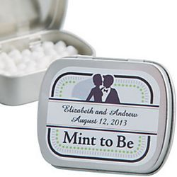 Mint to Be Personalized Wedding Favors Mint Tins
