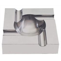 Brushed Aluminum Four Cigar Ashtray