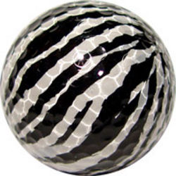 Zebra Print Golf Ball