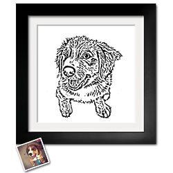Personalized Paper Cut Pet Portrait Art Print