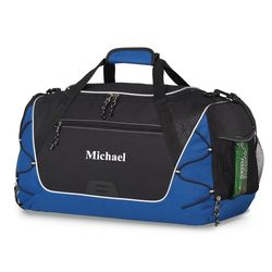 Sports Personalized Blue Duffel Bag