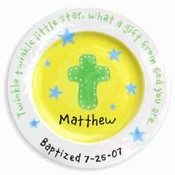 Personalized Christening Plate