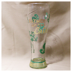 Father of the Bride Handpainted Pilsner Glass