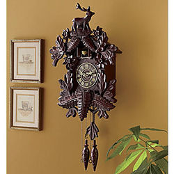 Old World Style Cuckoo Clock with Stag