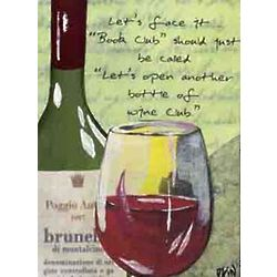 Open Another Bottle Club Canvas Wall Art