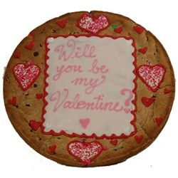 Giant Valentine Cookie Cake with Personalized Message