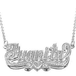 Sterling Silver 3D Diamond-Cut Name Necklace