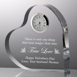 Heart Shape True Love Clear Clock