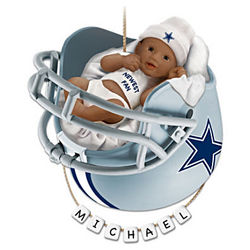 Dallas Cowboys African American First Christmas Ornament