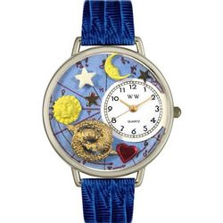 Pisces Royal Blue Leather Band Watch