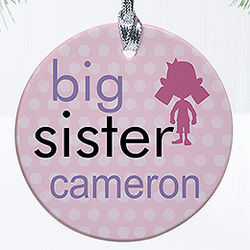 New Brother or Sister Personalized Christmas Ornament