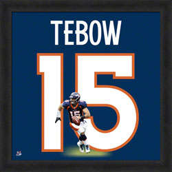 Tim Tebow Denver Broncos Framed Photo