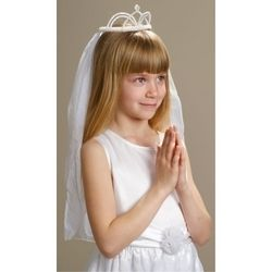 First Communion Veil and Crown