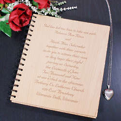 Wedding Invitation Personalized Wood Photo Album
