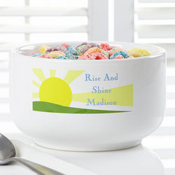 Rise and Shine Personalized Cereal Bowl