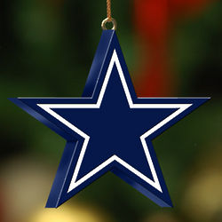 Handpainted Dallas Cowboys Logo Ornament