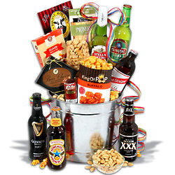 Beer and Pepperoni Gourmet Gift Basket