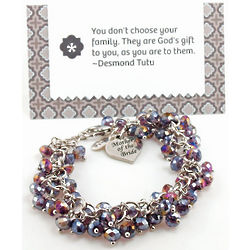 Personalized Mother of the Bride Bracelet with Card