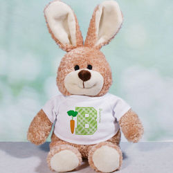 Personalized Initial T-Shirt Easter Bunny Stuffed Animal