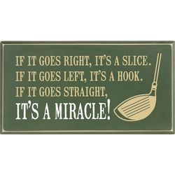 It's a Miracle Golf Plaque