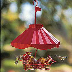 Carousel Hummingbird Feeder Gift Set