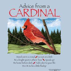 Advice From a Cardinal T-Shirt