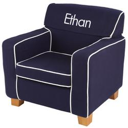 Personalized Laguna Chair in Navy with Contrasting Piping