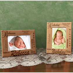 Personalized All About Me Wooden Picture Frame