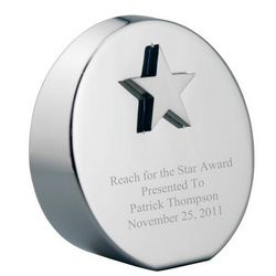 Personalized Star Paperweight Award
