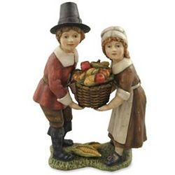 Thanksgiving Pilgrim Figurine