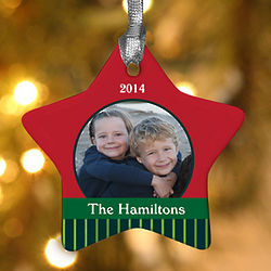 Christmas Star Personalized Photo Ornament