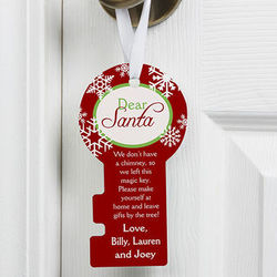 Personalized Dear Santa Door Hanger