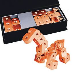 Rose Gold Aluminum Alloy Animal Building Blocks