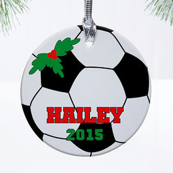 Personalized Kids' Sports Christmas Ornament