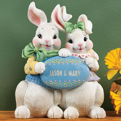 Bunny Couple Figurine