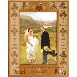 Personalized Irish Blessing Wedding Frame