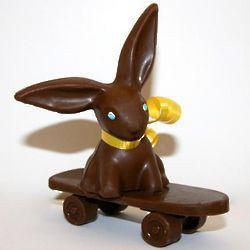 Chocolate Easter Skateboard Bunny