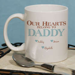 Personalized Our Hearts Belong to Him Coffee Mug