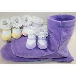 Booties for Mom and Baby Gift Set
