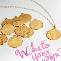 Vintage Zodiac Charm Necklace