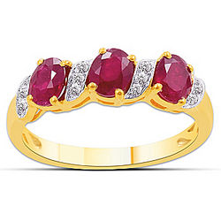 Passion Ruby and Diamond Ring